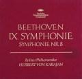 カラヤンのベートーヴェン/交響曲第8&9番「合唱付き」   独DGG 2921 LP レコード