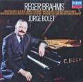 ボレットのレーガー&ブラームス/ピアノ作品集 独DECCA 2923 LP レコード