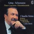 アラウ&デイヴィスのグリーグ&シューマン/ピアノ協奏曲集 蘭PHILIPS 2925 LP レコード