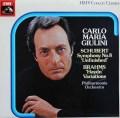 ジュリーニのシューベルト/交響曲第8番「未完成」ほか 英EMI 2925 LP レコード