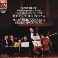 レオンスカヤ&アルバン・ベルク四重奏団のシューベルト/ピアノ五重奏曲「鱒」 独EMI 2925 LP レコード