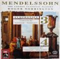 ノリントンのメンデルスゾーン/交響曲第3&4番 独EMI 2925 LP レコード