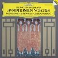 アバドのベートーヴェン/交響曲第7&8番 独DGG 2925 LP レコード