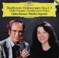 クレーメル&アルゲリッチのベートーヴェン/ヴァイオリンソナタ第1〜3番 独DGG 2925 LP レコード