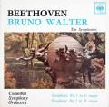 ワルターのベートーヴェン/交響曲第1&2番 英CBS 2927 LP レコード