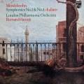 ハイティンクのメンデルスゾーン/交響曲第1番&4番「イタリア」 蘭PHILIPS 2927 LP レコード