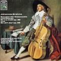 デュ・プレ&バレンボイムのブラームス/チェロソナタ第1&2番   独EMI 2936 LP レコード
