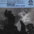 グルダ&ベームのベートーヴェン/ピアノ協奏曲第1番&「月光」ソナタ  英DECCA 2938 LP レコード