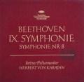 カラヤンのベートーヴェン/交響曲第8&9番「合唱付き」  独DGG 2938 LP レコード