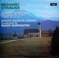 ノリントンのR.シュトラウス/合唱曲集 英argo 2940 LP レコード