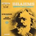 ドレクリューズ&レーヴェングート四重奏団のブラームス/クラリネット五重奏曲   仏PHILIPS 2940 LP レコード