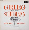 カッチェン&ケルテスのグリーグ&シューマン/ピアノ協奏曲集  英DECCA 2941 LP レコード