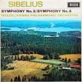 【オリジナル盤】マゼールのシベリウス/交響曲第3&6番  英DECCA 2942 LP レコード