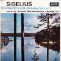 【オリジナル盤】マゼールのシベリウス/交響曲第5&7番  英DECCA 2942 LP レコード