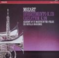 マリナーのモーツァルト/ディヴェルティメント第2番ほか  蘭PHILIPS 2942 LP レコード