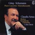 アラウ&デイヴィスのグリーグ&シューマン/ピアノ協奏曲集  蘭PHILIPS 2942 LP レコード