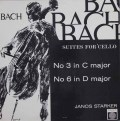 シュタルケルのバッハ/無伴奏チェロ組曲第3&6番  英SAGA 2942 LP レコード