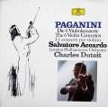 デュトワ&アッカルドのパガニーニ/ヴァイオリン協奏曲全集  独DGG 2942 LP レコード