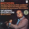 ガッゼローニ&カニーノのベートーヴェン/フルートとピアノのための作品全集  蘭PHILIPS 2943 LP レコード