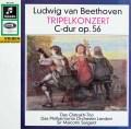 オイストラフ・トリオらのベートーヴェン/ピアノ、ヴァイオリン、チェロと管弦楽のための協奏曲  独Columbia 2943 LP レコード