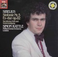 ラトルのシベリウス/交響曲第5番ほか  独EMI 2944 LP レコード