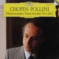 ポリーニのショパン/ピアノソナタ第2番「葬送行進曲付き」&第3番   独DGG 2944 LP レコード