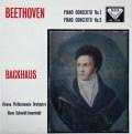 バックハウス&イッセルシュテットのベートーヴェン/ピアノ協奏曲第1&2番  英DECCA 2944 LP レコード