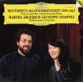 アルゲリッチ&シノーポリのベートーヴェン/ピアノ協奏曲第1&2番  独DGG 2946 LP レコード