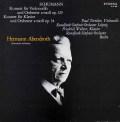 トルトリエ&アーベントロートのシューマン/チェロ協奏曲ほか    独ETERNA 2947 LP レコード