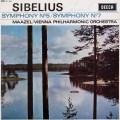 【サイン入り】マゼールのシベリウス/交響曲第5&7番    英DECCA 2948 LP レコード