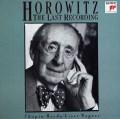 ホロヴィッツ/ラストレコーディング   独SONY CLASSICAL 2949 LP レコード