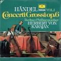 カラヤンのヘンデル/合奏協奏曲作品6より vol.1  独DGG 2997 LP レコード