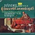 カラヤンのヘンデル/合奏協奏曲作品6より vol.2  独DGG 2997 LP レコード