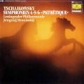 ムラヴィンスキーのチャイコフスキー/交響曲第4・5・6番「悲愴」  独DGG 2997 LP レコード