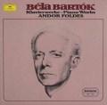 フォルデスのバルトーク/ピアノ作品集  独DGG 2997 LP レコード