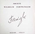 フルトヴェングラーのR.シュトラウス/家庭交響曲ほか   仏WF協会 3003 LP レコード