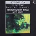 ボドのデュティユー/交響曲第1番&「音色、空間、運動」  仏HM 3004 LP レコード