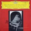 【赤ステレオ】フィッシャー&フリッチャイのベートーヴェン/ピアノ協奏曲第3番  独DGG 3004 LP レコード