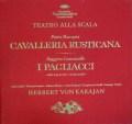 【オリジナル盤】カラヤンの歌劇「カヴァレリア・ルスティカーナ」&「道化師」  独DGG 3006 LP レコード