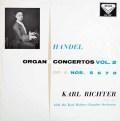【オリジナル盤】リヒターのヘンデル/オルガン協奏曲集 vol.2  英DECCA 3007 LP レコード