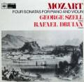 ドルイアン&セル(ピアノ)のモーツァルト/4つのヴァイオリンソナタ集  英CBS 3008 LP レコード