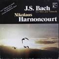 アーノンクールのバッハ/無伴奏チェロ組曲(全曲)  仏HM 3009 LP レコード