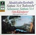 クレンペラーのメンデルスゾーン/交響曲第4番「イタリア」ほか  独Columbia 3011 LP レコード
