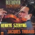 シェリング&ティボーのベートーヴェン/ヴァイオリン協奏曲 仏ODEON 3012 LP レコード