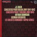 グリュミオー&ゲーレーツのバッハ/ヴァイオリン協奏曲集 仏PHILIPS 3012 LP レコード