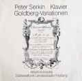 ゼルキンのバッハ/ゴルトベルク変奏曲 独SWF 3012 LP レコード