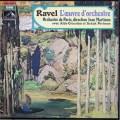 マルティノンのラヴェル/管弦楽曲集 仏EMI 3012 LP レコード