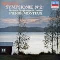 モントゥーのシベリウス/交響曲第2番 仏DECCA 3013 LP レコード
