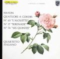 イタリア四重奏団のハイドン/弦楽四重奏曲「ひばり」&「五度」ほか 仏PHILIPS 3013 LP レコード