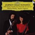アルゲリッチ&マイスキーのバッハ/チェロ・ソナタ第1〜3番 独DGG 3015 LP レコード